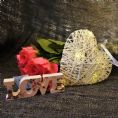 50% OFF White Light Up LED Heart Rattan